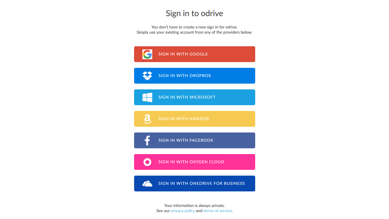 Google, DropBox, Microsoft, Amazon, Facebook, OxygenCloud, OneDrive