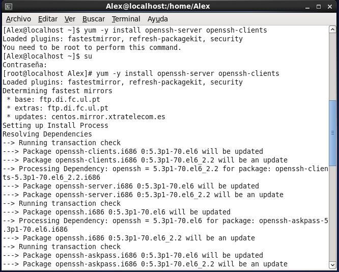 Instalación de OpenSSH